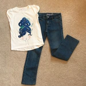 Ready to Go, Gymboree T-Shirt & Jeans Outfit